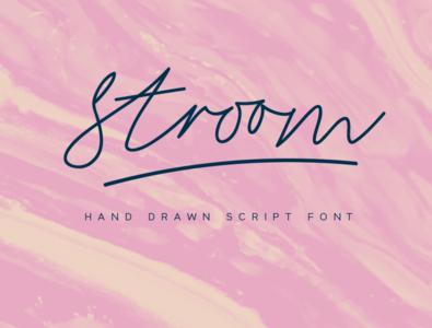 Stroom - Signature Script Font