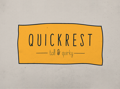 Quickrest Family – Hand Drawn Font