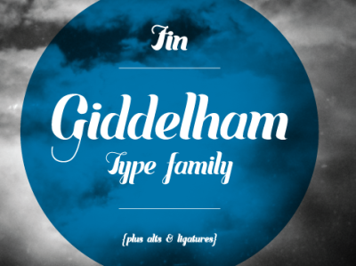 Giddleham Family – Display Font