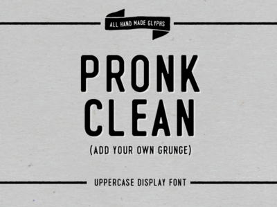 Pronk - Clean Display Font