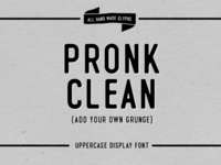Pronk - Clean Display Font