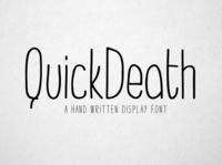 QuickDeath - Hand Drawn Font