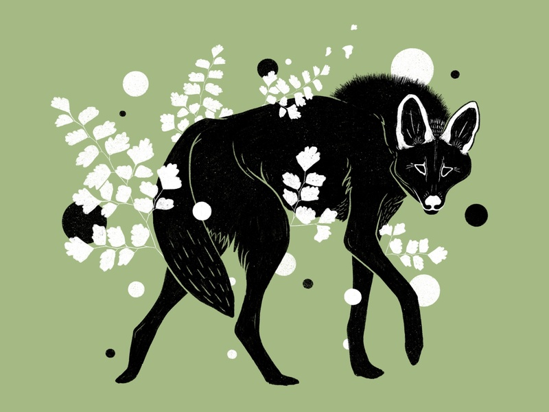 Botanical Fox Illustration