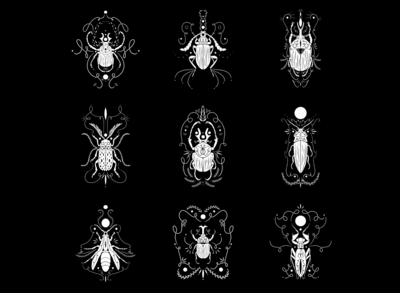Multiple Ornamental Insects