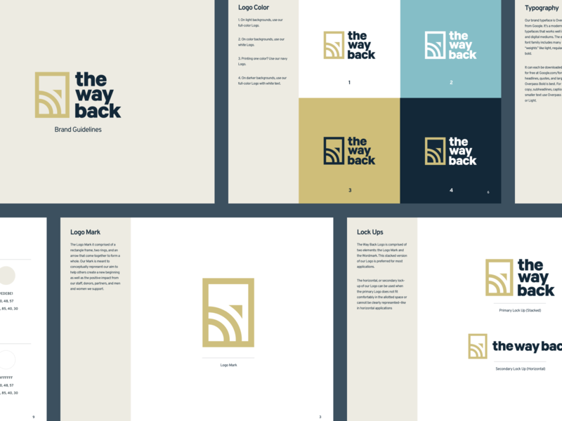 The Way Back - Brand Guidelines lettering illustrator minimal icon vector logo typography illustration branding design