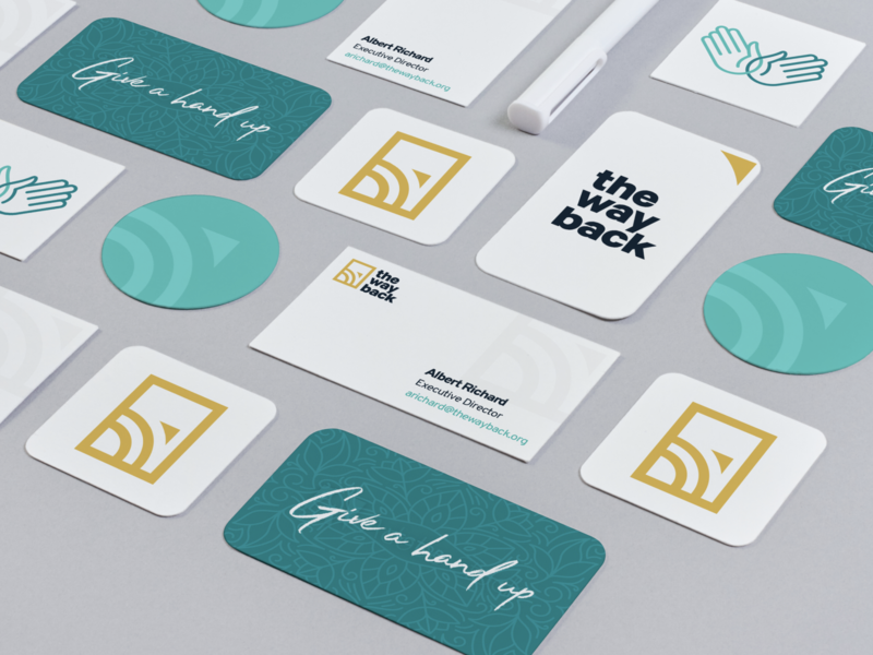 The Way Back - Concepts type business card logos mark collateral logo typography illustration design branding