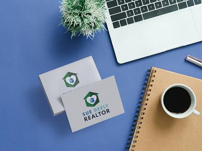 Sue Deely Realtor Logo minimal vector web typography logo design businesscard branding
