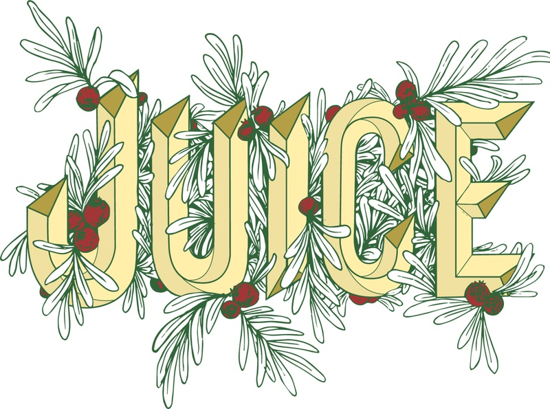 JUICE Typography handdrawn logo illustration vector typography design