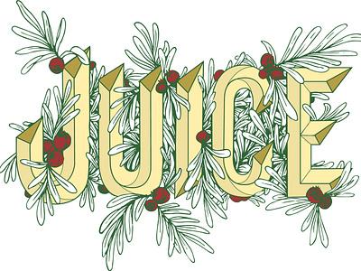 JUICE Typography handdrawn logo illustration vector typography design