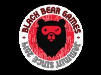 Black Bear Games Sticker vector badge branding logo gamepad bear gaming games sticker