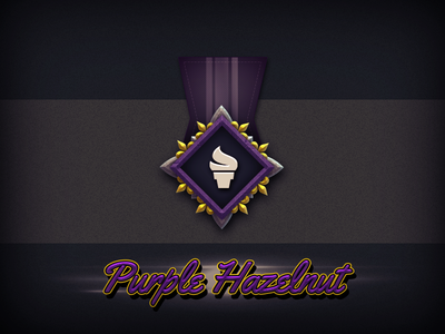 Purple Hazelnut Badge icon metal medal badge hazelnut purple cream ice