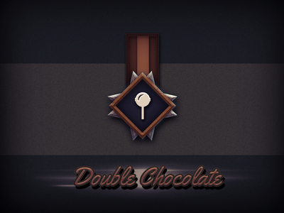 Double Chocolate icon metal medal badge chocolate double cream ice