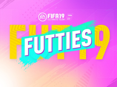 FUTTIES game ice-cream teal yellow pink ceremony awards fifa19 fifa fut19