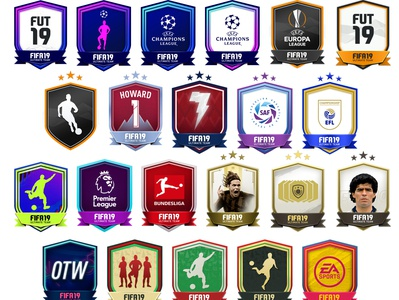 FUT19 - SBC badges design design icon badge squad building challenges fifa ultimate team fut19 squad sbc fifa19