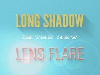 Long Shadow Lens Flare