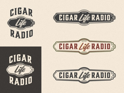 Cigar Life Radio Logos