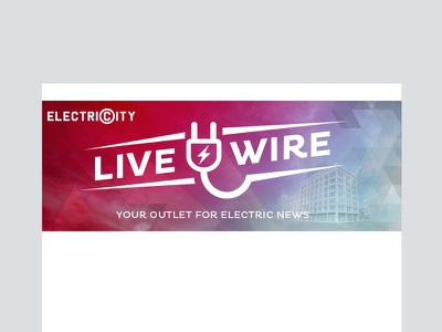 ElectriCity Live Wire Header colorful logo electricity loft downtown branding apartment