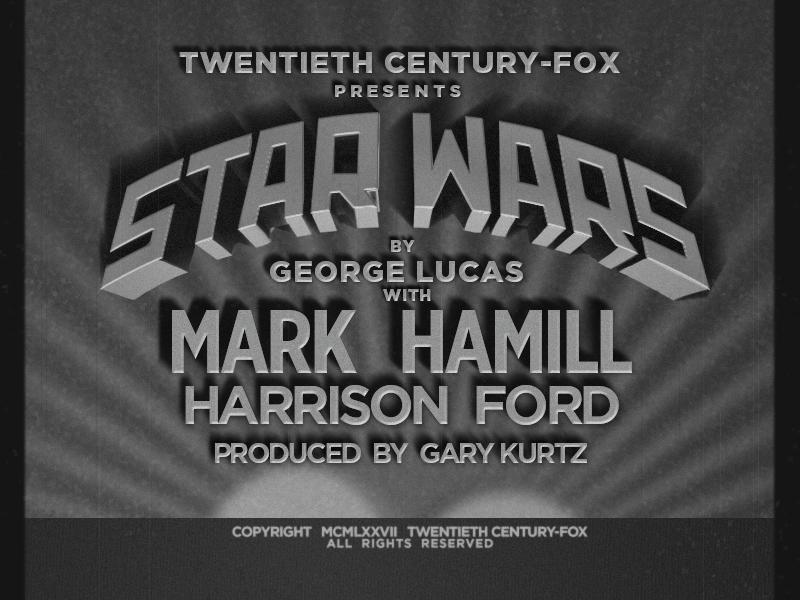 Star Wars as old film titles typography type gray blackandwhite opening filmtitle title titles film wars star starwars