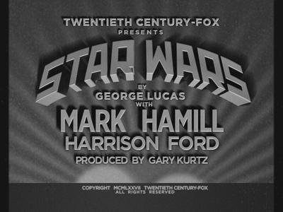 Star Wars as old film titles