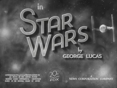 Star Wars Old Film Titles (part II) titles starwars wars star opening title filmtitle gray film typography blackandwhite type