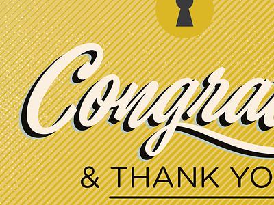 Congrats! print vector texture typography brochure