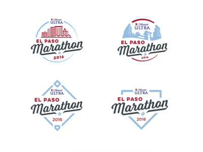 El Paso Marathon Logo options elpaso run race marathon scripts typography logo
