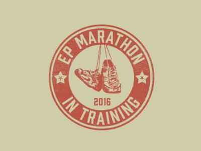 El Paso Marathon Training Shirt graphic illustration rough texture retro vintage training shirt logo marathon elpaso