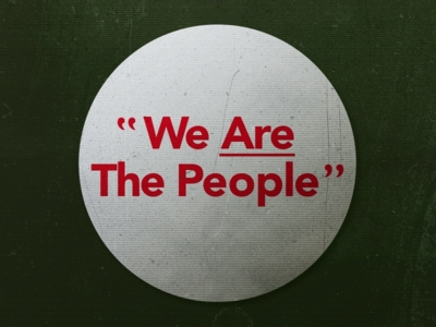 We Are The People scratches grunge texture bickle travis taxidriver film typography type