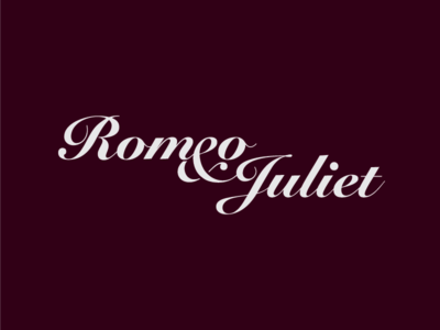 Romeo & Juliet juliet romeo play title typography