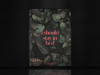 I should stay in bed | Tyler the creator | Poster poster music graphicdesign design ui minimal