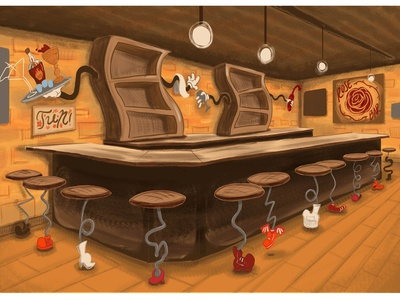 Bar Background Design