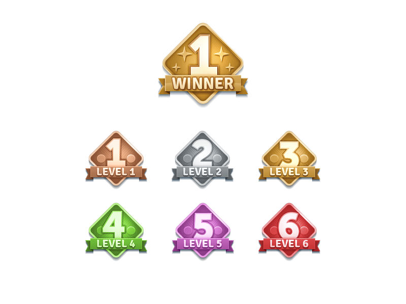 Tbw level badges lineup