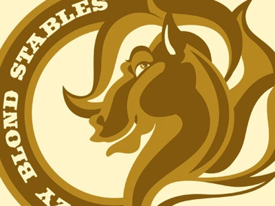 Ditzy Blonde Stables. logo branding brand mark icon design vector work