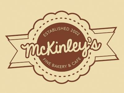 McKinley's. web design logo branding brand mark bakery cafe