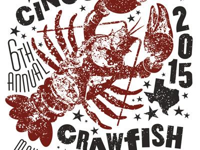 CrawDude.  crawfish boil crawfish cinco de mayo illustration t-shirt design