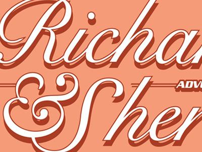 Retire'd Logo.  logo design graphic design custom typeface custom script logo type logo