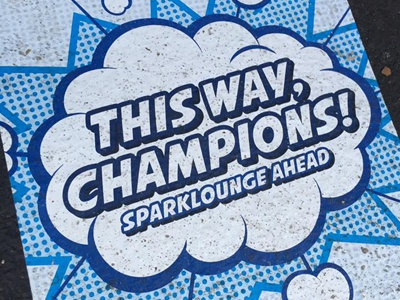 Champion Challenge. comic strip cartooning illustration graphic design