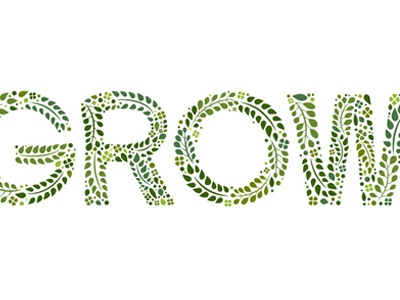 Gotta Grow. illustration custom type typography