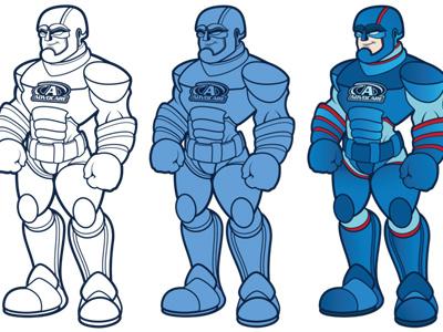 Sparkman! mascot super hero vector vectorial illustration illustration