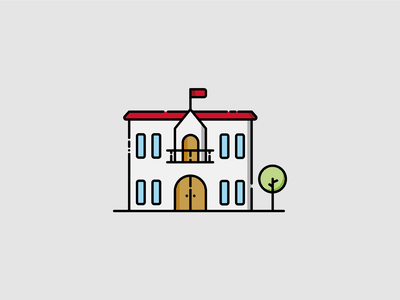 TOWN HALL mayor municipality town hall icon flat vector design
