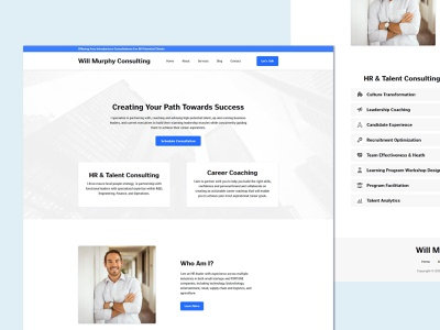 Will Murphy Consulting website concept website branding blue consulting gooddesign homepage design website design ui landingpage webdesign