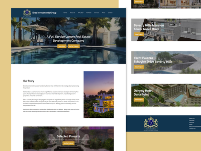Draz Investments Group - Luxury Real Estate Development design brown ui website website design gooddesign ux homepage landingpage webdesign