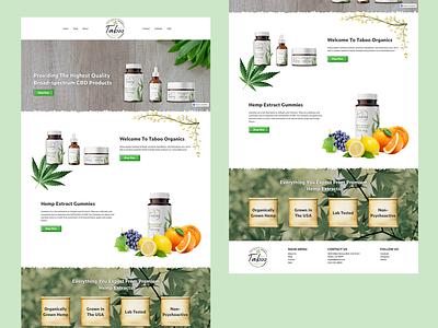 Organic CBD Oil Web Design ux ui homepage landingpage ecommerce hemp webdesign weed cbd