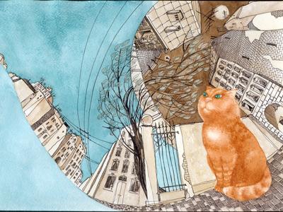 Kovbasko the Cat. Cover art (variant).