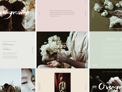 Overgrowth Website Overview ui uiwebsite parallax web overgrowth type minimal floral