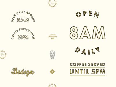 Bodega: Hours, etc.