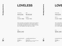 LOVELESS Invoice