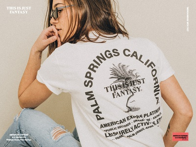 Leisurely activities, etc. promo warp wavy type california merch apparel palm springs