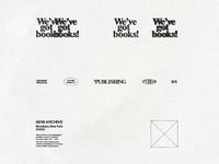 Exchange One(01) logo typography new york layout print publisher branding texture type