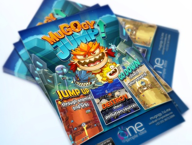 Game Cover Design on Flyers - Mugogy Jump Game